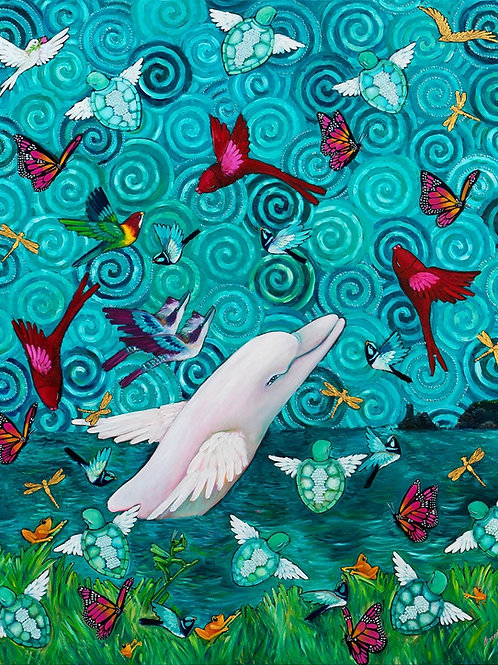 Limited Edition Print: The Pink Dolphin