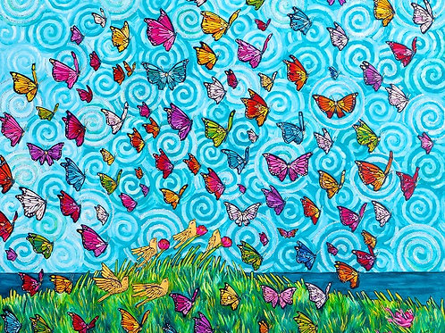 Limited Edition Print: 100 Butterflies