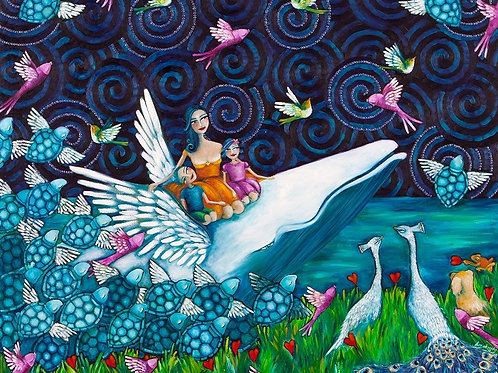 Limited Edition Print: Lady And Her Whale