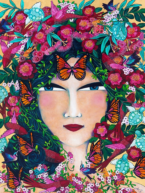 Limited Edition Print: Woman with Sapphire Eyes