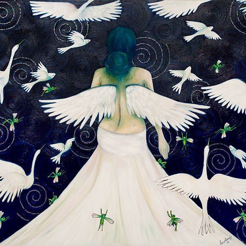 Limited Edition Print: Lady With Wings