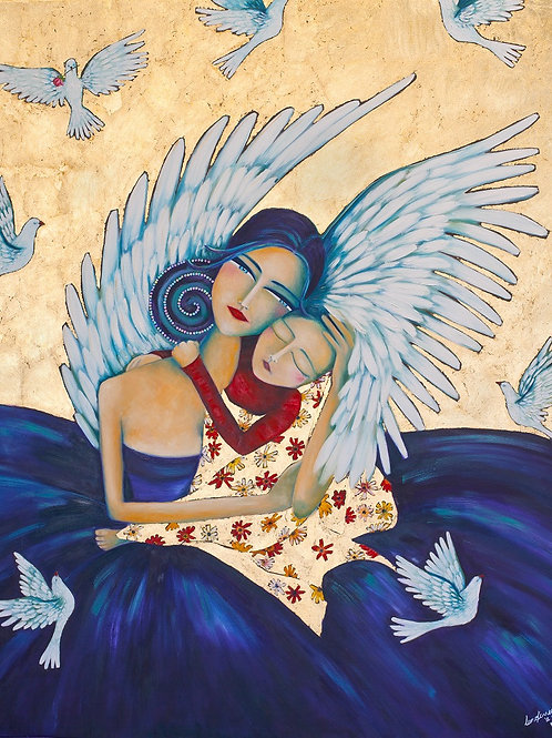 Limited Edition Print: Angel And Child