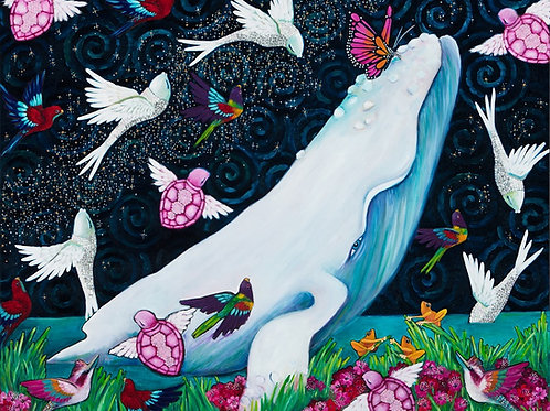 Limited Edition Print: Whale And The Butterfly