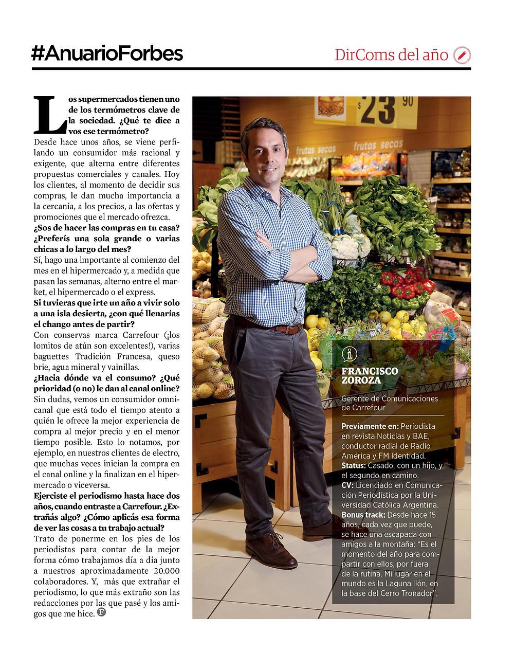 Publicación Forbes Argentina