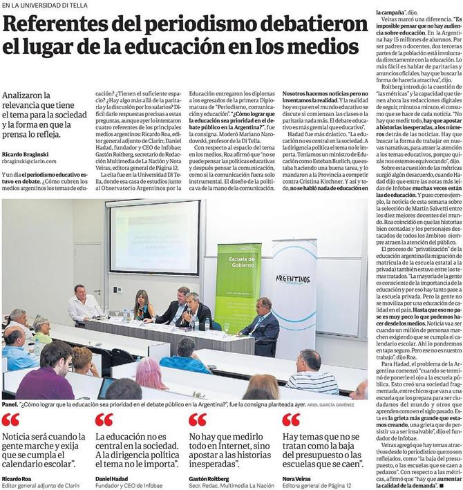 Foto // Argentinos por la Educación en Clarín