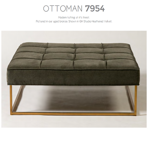 Order # 7954  (Modern Tufted Ottoman)