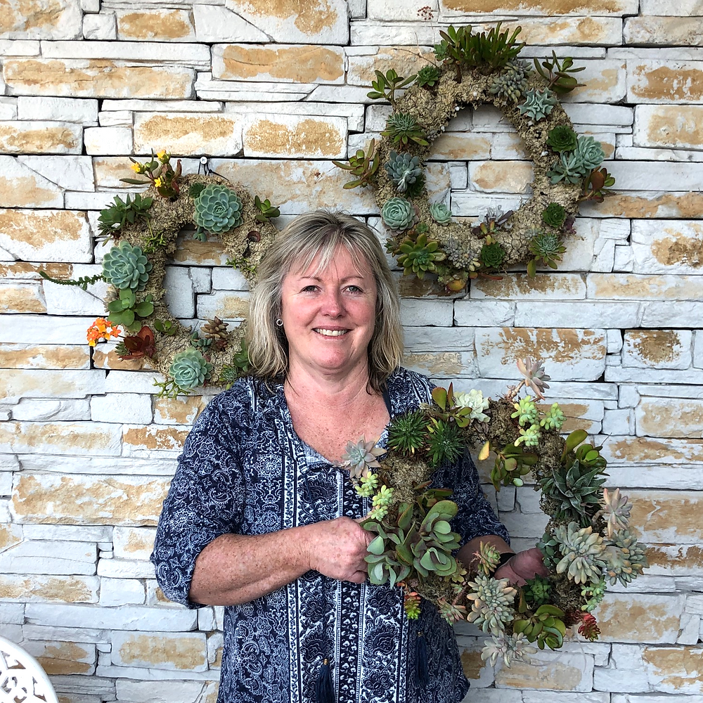 Sharon Hoare Succulent Wreath Workshop