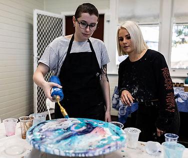 Resin Art Workshop at Le Workshop in Huskisson, Jervis Bay