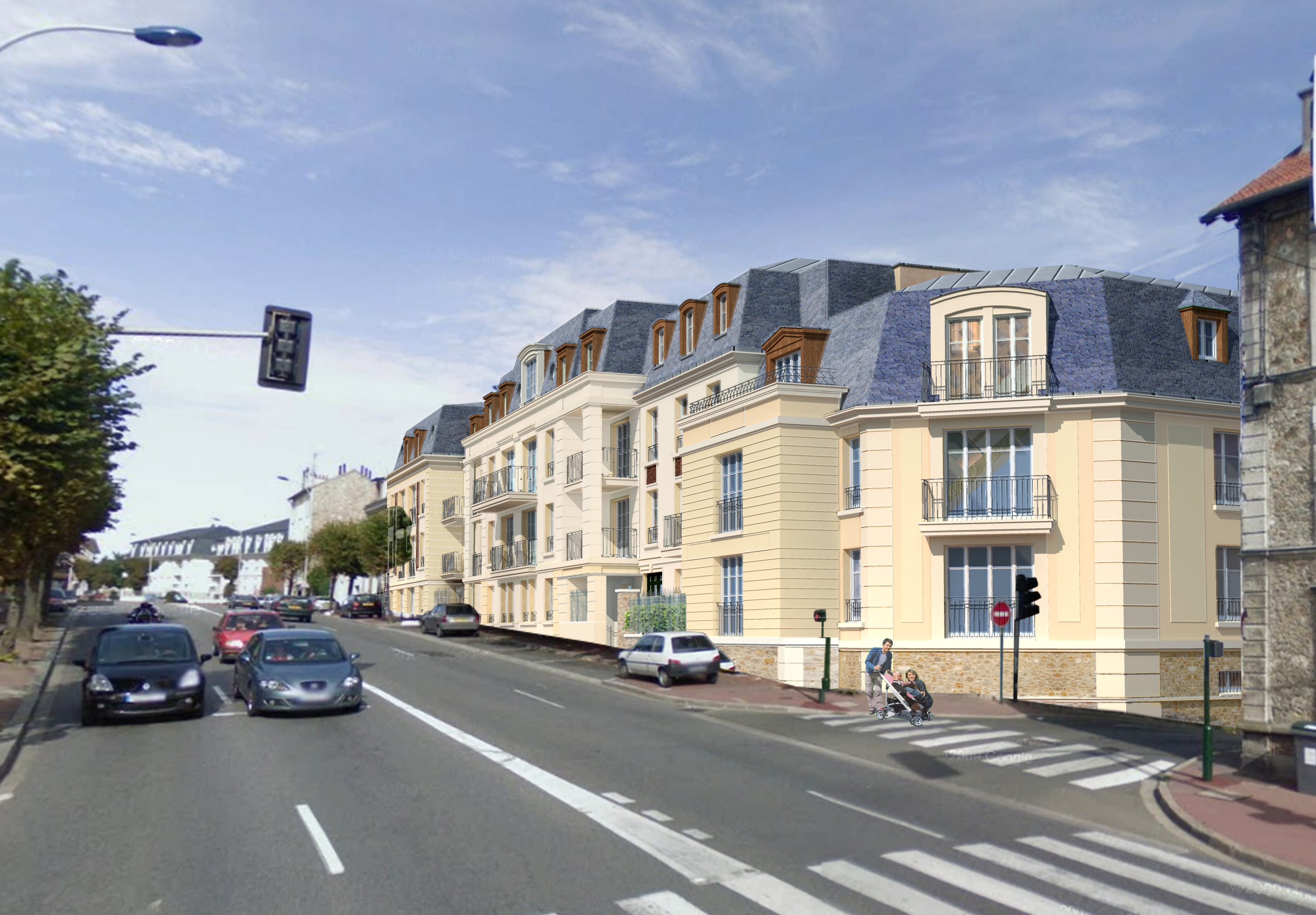 St-CyrLEcole rue Pierre Curie aval