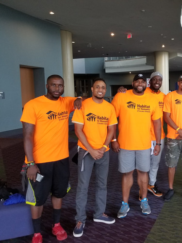 Volunteering to Support Habitat for Humanity