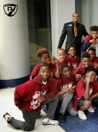 Orlando Magic Game with Students of Carver Middle School