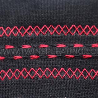 Double Zig Zag with Double Saddle Stitch