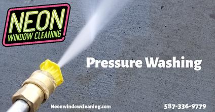 neon window cleaning pressure washing, g