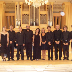 Robert Ferrer and Ensemble Col legno. Martinů's Hall of HAMU (Prague), 2010.