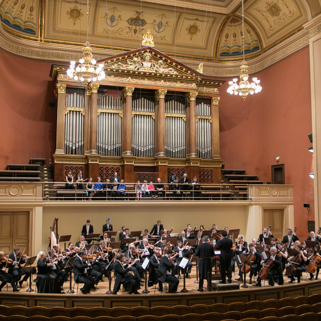 Recording of Real Madrid's hymn for TV Real Madrid. Rudolfinum (Prague), 2017. (2)