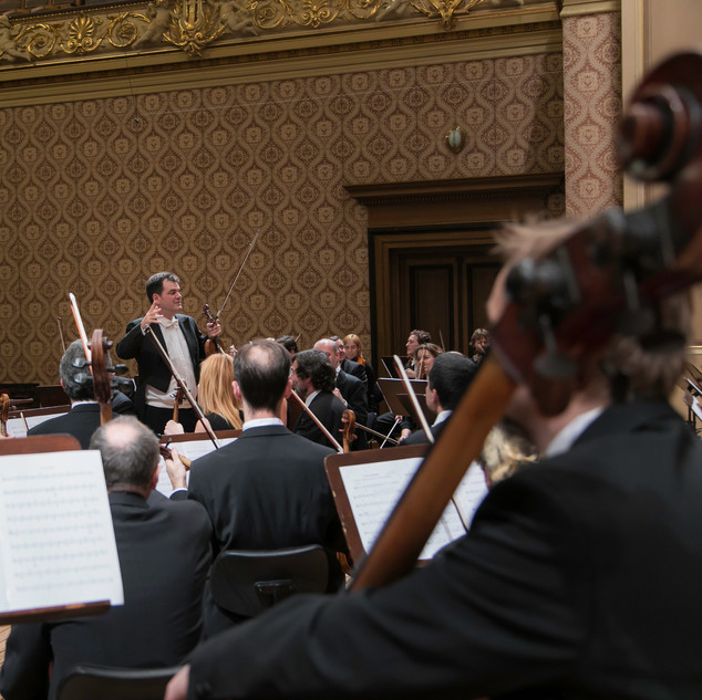 Recording of Real Madrid's hymn for TV Real Madrid. Rudolfinum (Prague), 2017. (1)