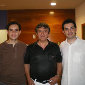 (Left to right): Conductors Robert Ferrer, Manuel Galduf and Isaac González. Palau d'Altea (Alicante), 2008.