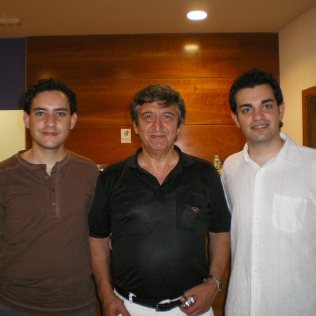 (Left to right): Conductors Robert Ferrer, Manuel Galduf and Isaac González. Palau d'Altea (Alicante), 2008.