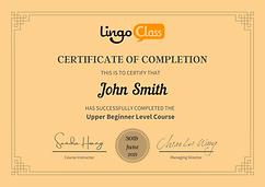 LingoClass Asian Language Certificate Br