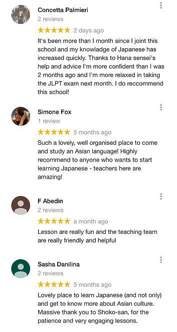LingoClass-google reviews