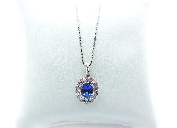 Collana zaffiro e diamanti