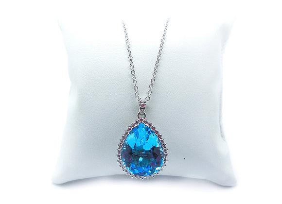 Collana topazio e diamanti