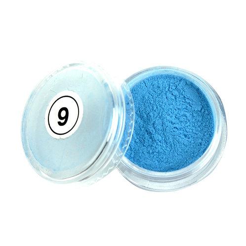 9.Пудра неон голубая 2 мл