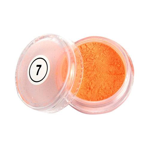 7.Пудра неон оранжевая 2 мл