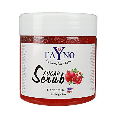 Сахарный скраб Fayno - ГРАНАТ,170 гр
