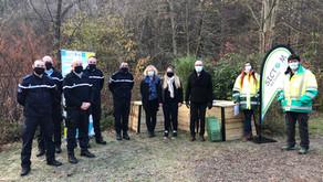 Des composteurs pour la gendarmerie de Champeix