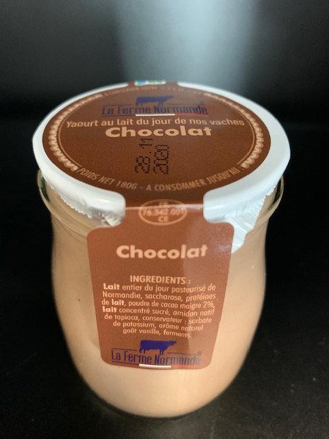 Yaourt au lait entier de Normandie Chocolat