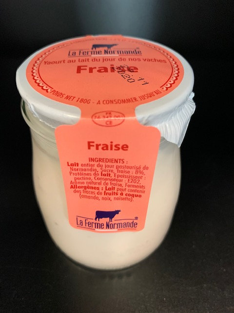 Yaourt au lait entier de Normandie Fraise