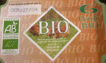 Oeufs bio (vendu par boite de 6)