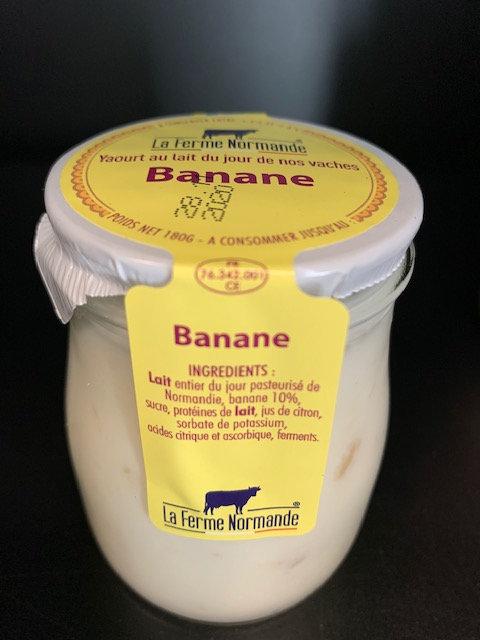 Yaourt au lait entier de Normandie Banane