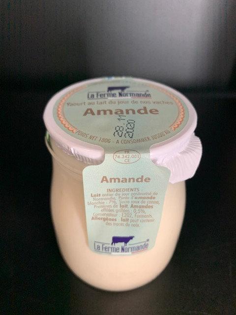 Yaourt au lait entier de Normandie Amande