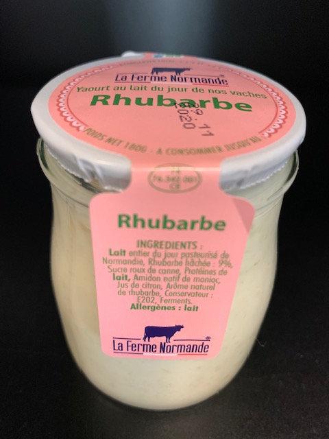 Yaourt au lait entier de Normandie Rhubarbe