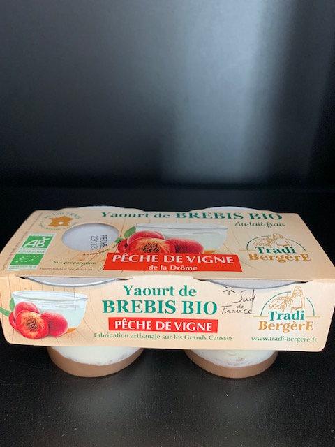Yaourt de Brebis Bio Peche de vigne (lot de 2)