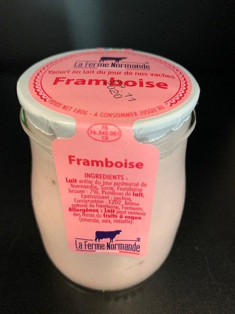 Yaourt au lait entier de Normandie Framboise