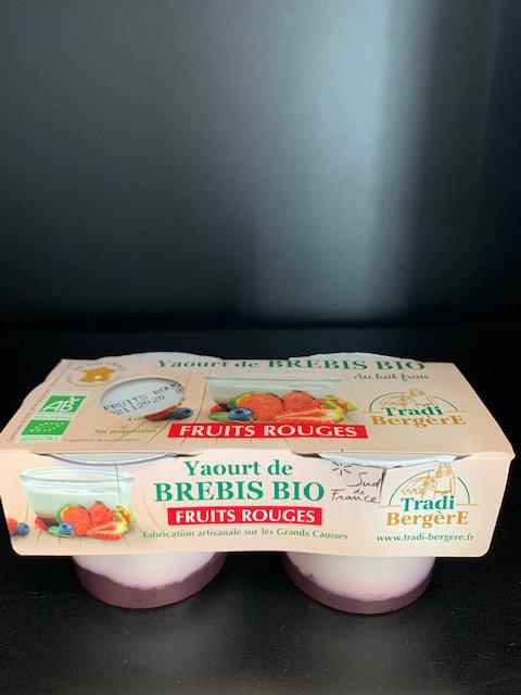 Yaourt de Brebis Bio Fruits rouges (lot de 2)