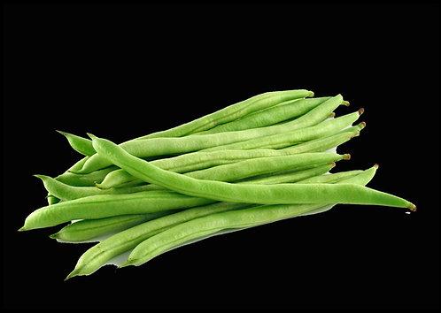 Haricot vert équeuté (vendu à la barq de 250g)