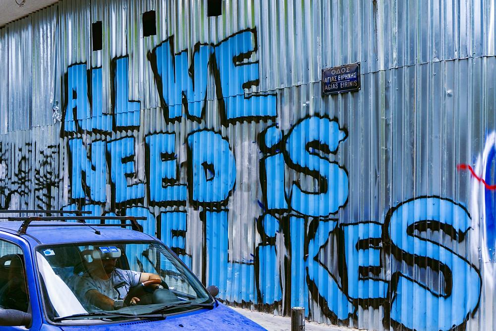Blue wall graffiti instagram likes
