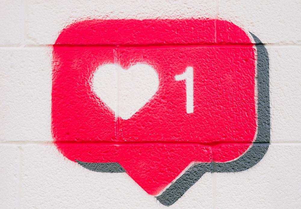 Like heart wall art