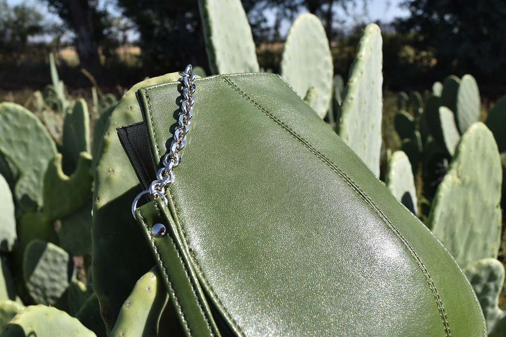 Green Cactus Leather Bag Vegan Alternative