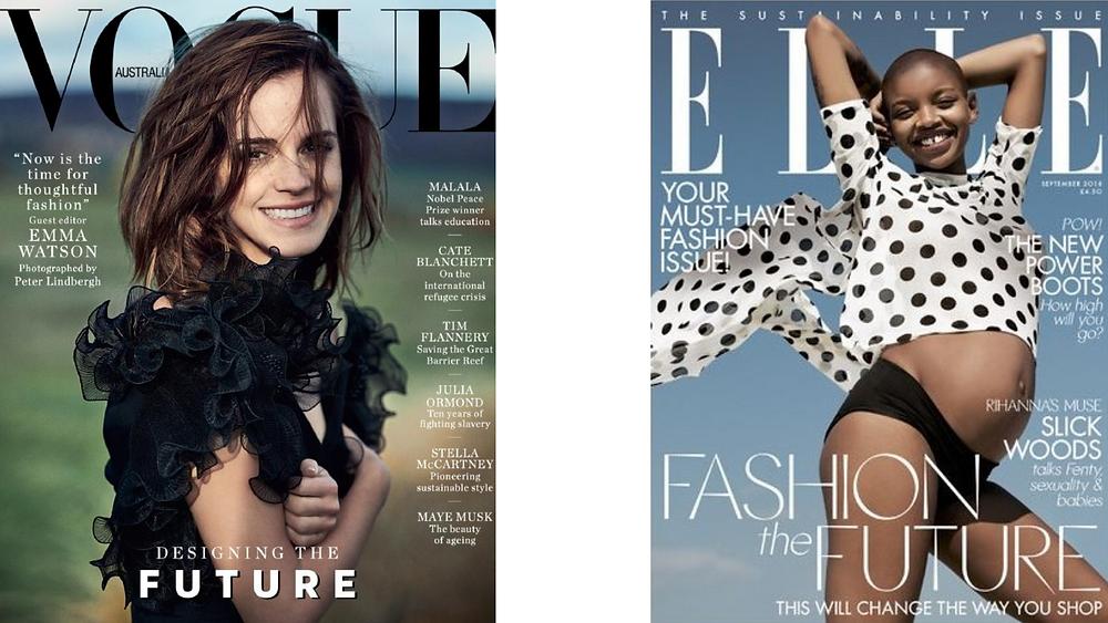 Vogue Australia Elle UK Sustainabiloty Issue