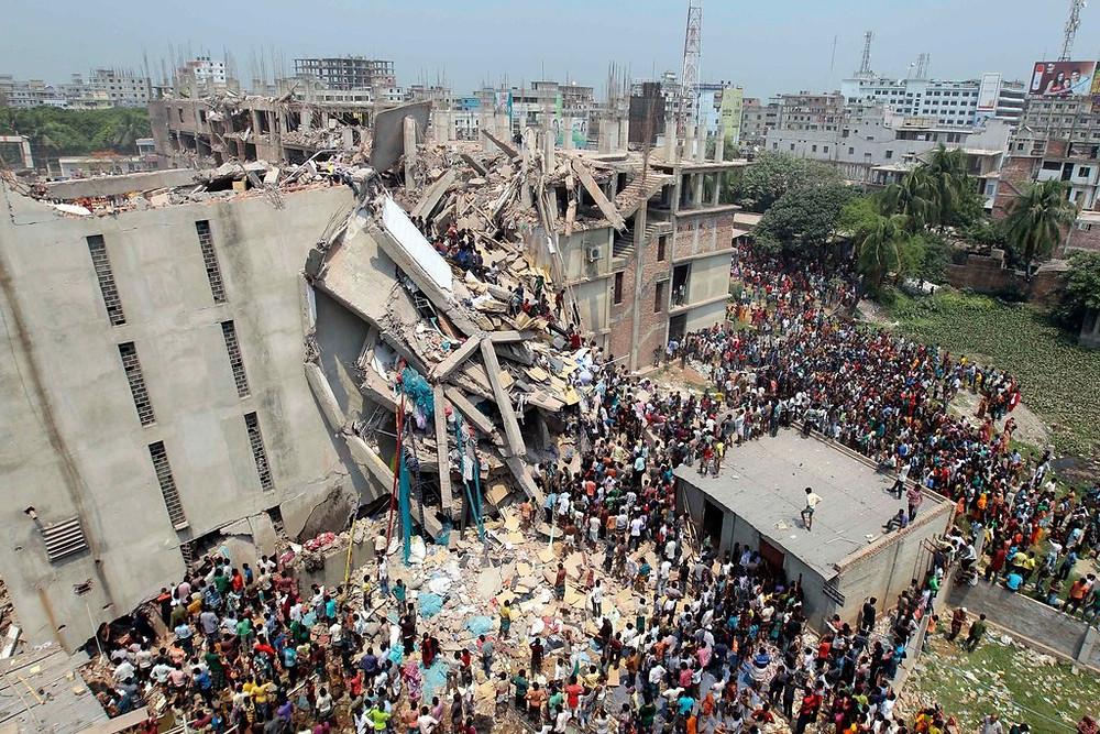 Rana Plaza factory collapse, Bangladesh. 2013.