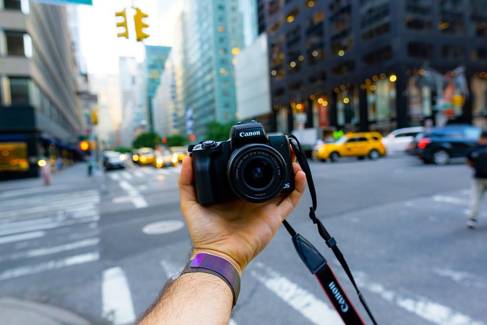 Camera selfie new york streets