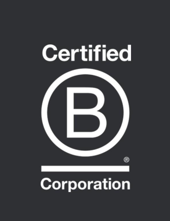 Certified B Corporation logo organic