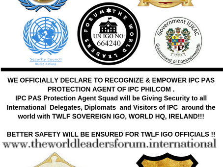 THE WORLD LEADERS FORUM (TWLF S~IGO) RECOGNIZES 'IPC PAS PROTECTION AGENT SQUAD' OF IPC PHILCOM !!!