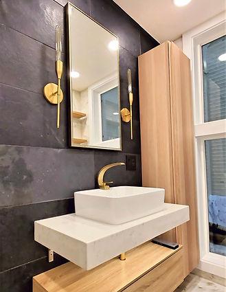 modern small bathroom in san francisco