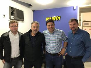 Esta semana o provedor da Santa Casa de Irati Dr. Ladislao Obrzut Neto esteve na cidade de Ponta Gro